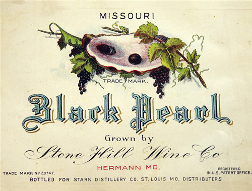 Black Pearl Wine Label