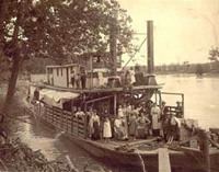 Steamboat near Hermann, Missouri in the 1800s.