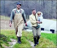 Farmers Christina and Bryan Truemper